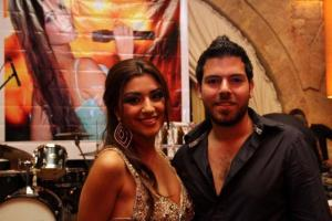 new photo of Christine Saade with Jack Haddad at her celebration party held on Friday July 1st 2011 at Byblos resort in Lebanon 1