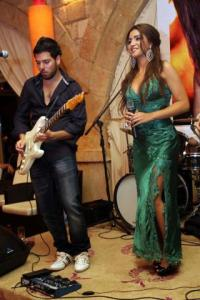 new photo of Christine Saade with Jack Haddad at her celebration party held on Friday July 1st 2011 at Byblos resort in Lebanon 4