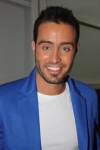 arrival picture of Saed Ramadan to the backstage of staracademy 15th prime on July 10th 2011 at the LBC building 1