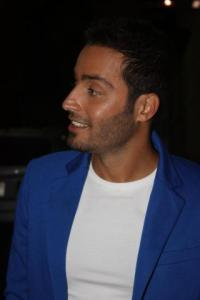 arrival picture of Saed Ramadan to the backstage of staracademy 15th prime on July 10th 2011 at the LBC building 2