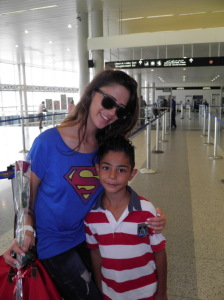photo of Layan Bazlamit at Beirut airport after she attended the final prime of staracademy on July 15th 2011