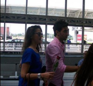 photo of StarAcademy students Ahmad Izzat and Layan Bazlamit at Beirut airport 1