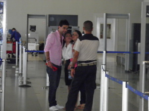 photo of StarAcademy students Ahmad Izzat and Layan Bazlamit at Beirut airport 4