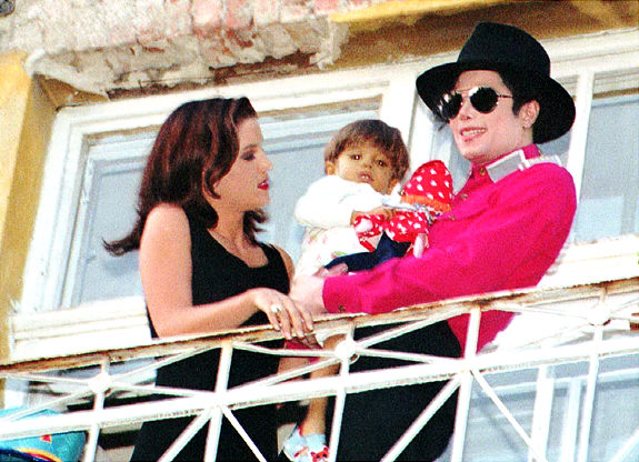 Michael Jackson and Lisa Marie Presley at a children ...