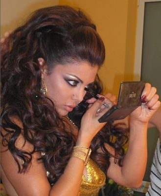 haifa wehbe curly hair style picture uploaded by zaina to people