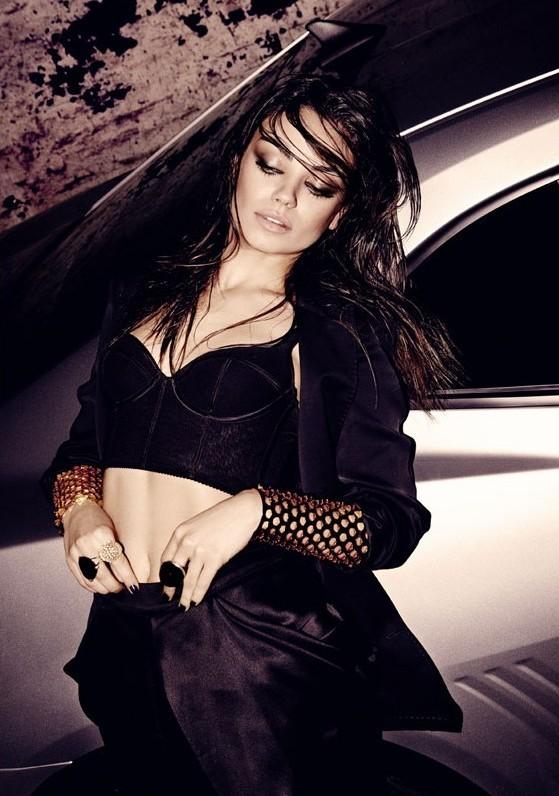Mila Kunis photo shoot for the BlackBook Magazine issue of December