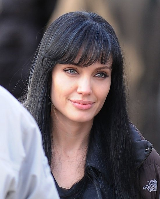 angelina jolie black hair salt wwwpixsharkcom images