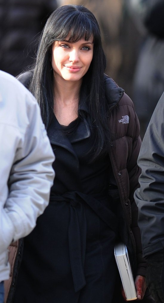 Angelina jolie black hair dark