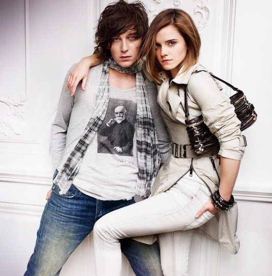 Emma Watson photo shoot for Burberry springsummer 2010 line campaign 2