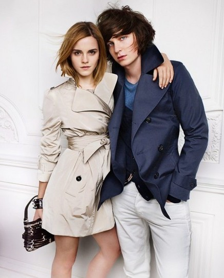 Emma Watson photo shoot for Burberry springsummer 2010 line campaign 10