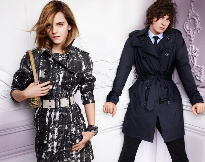 Emma Watson photo shoot for Burberry springsummer 2010 line campaign 9