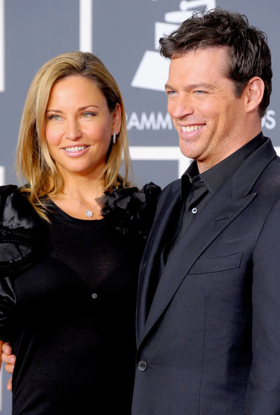 Harry connick jr and his wife jill goodacre arrive at the 52nd annual