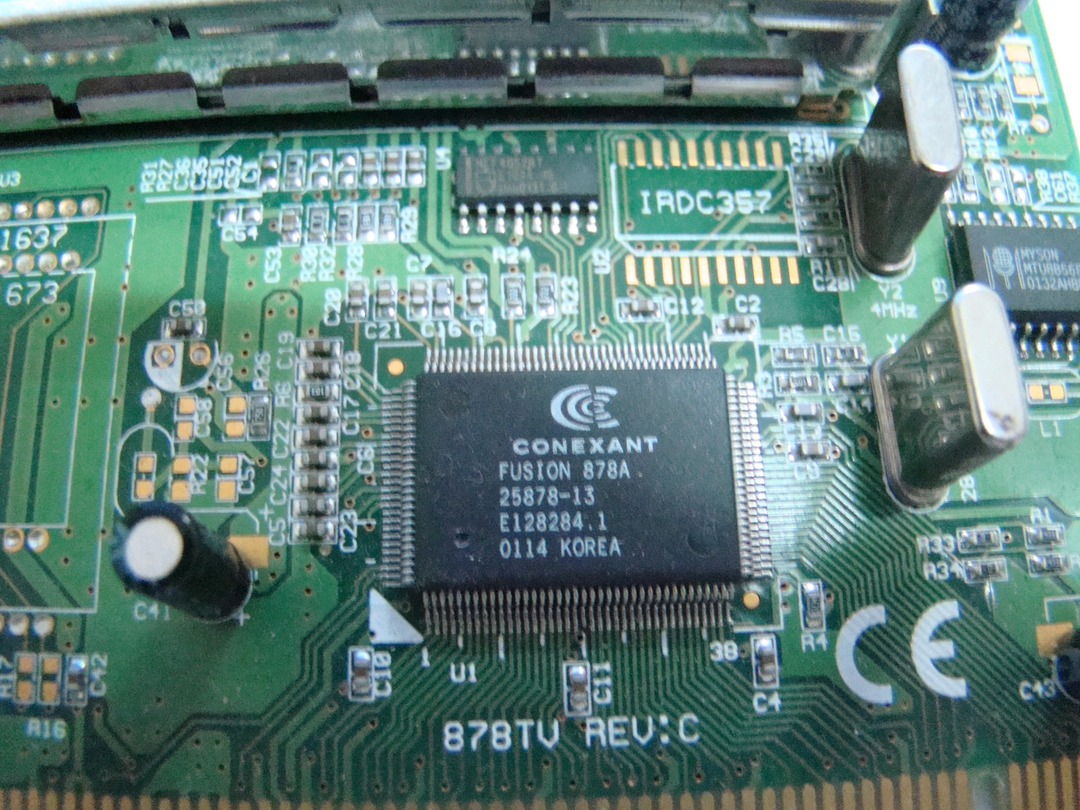 PILOTE CARTE TV CONEXANT FUSION 878A