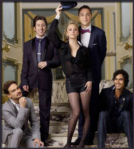The Big Bang Theory poster of Sheldon, Leonard, Rajesh, Penny and  Wolowitz wearing formal black suitsThe Big Bang Theory poster of SheldonSheldon, Leonard, Rajesh, Penny and  Wolowitz wearing formal black suits