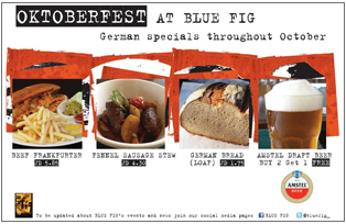 OkotberFest offers of bluefig restaurant in amman in October 2012