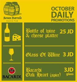 Seven Barrels Gastro Pub October 2012 offers in Jordan