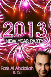 faris al abdallah new year party at clava lounge