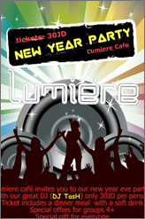 Lumiere cafe new years party