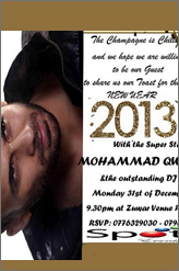 mohammad qwaider new year party in amman