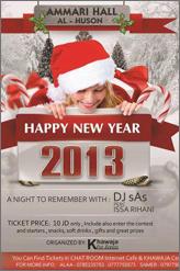 new year party at ammari hall in irbid