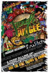 jungle jungle new year party 2013 at switch 51 in amman