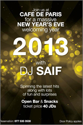 cafe de paris new year party advertisement poster