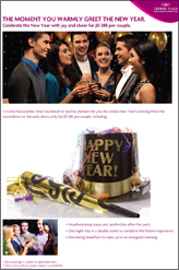 new year celebration at crowne plaza