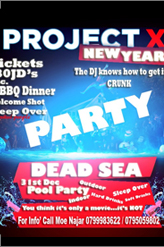 projectx dead sea new year party