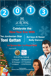 toni qattan at le royal hotel new year party 2013