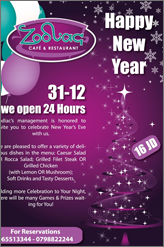 zodiac cafe new year party