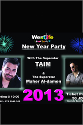 westlife new year party 2013