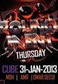 bouncement party at cube icon