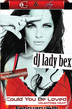 dj lady bex at gclub for valentines night party