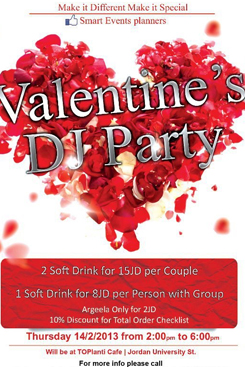 valentines party at toplanti cafe