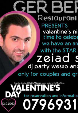 ziad saleh at gerbera cafe for a pre-valentines party