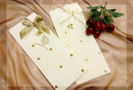 two rings wedding cards