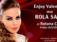الفنانة رولا سعد في حفل غنائي لعيد الحب في روتانا كافيه