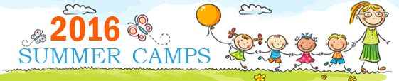 banner of 2016 summer camps for kids and students in jordan
