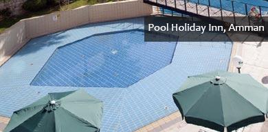 Outdoor pool of Holiday Inn Amman