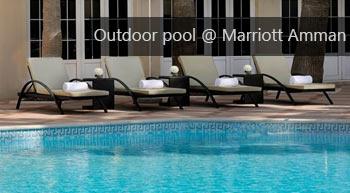 Outdoor pool of Marriott Hotel in Amman
