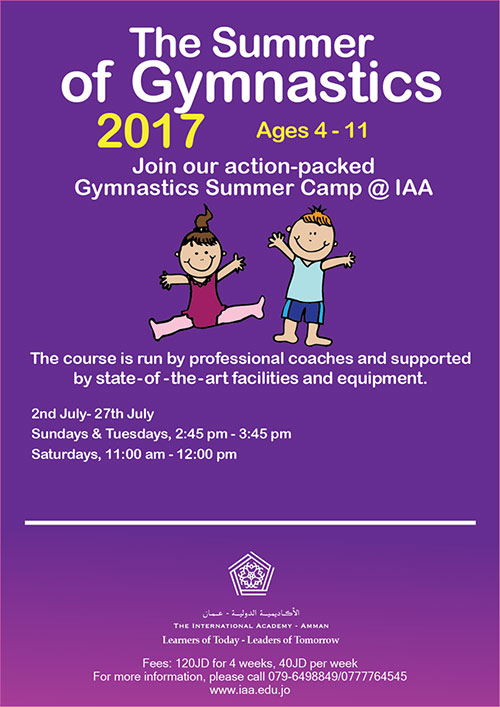 gymnastics iaa school summer camp  2017