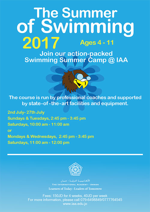 iaa summer swimming camp  2017
