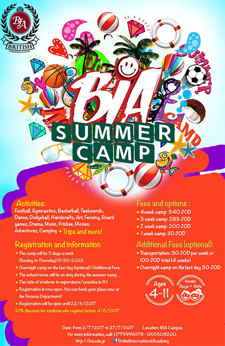 british international summer camp