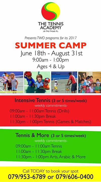 Tennis Academy Summer Camp 2017
