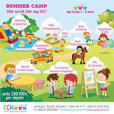 summer camp 2017 at Child Concept Kindergarten