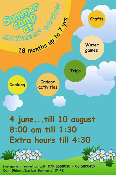 Kids summer camp at  Montessori Gardens