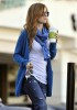 Isla Fisher candids walking in Los Angeles on the 26th of January 2009