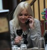 Anna Faris eating lunch with her boyfriend in Hollywood yesterday