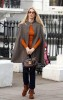 Claudia Schiffer on her way home after taking her children to school, in London, England on the 30th of January 2009