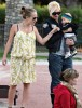 Gwen Stefani with baby Zuma Rossdale, and Jennifer Meyer with her daughter Ruby